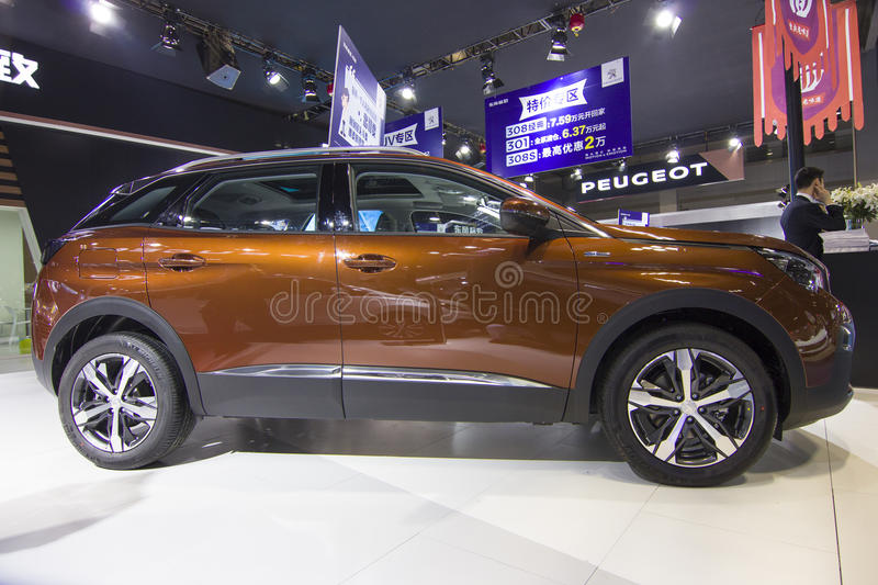 Auto show — Peugeot(4008). The 2017 Chongqing lnternational Auto Consumption Exhibition,Peugeot(4008). Photo taken April 10, 2017 royalty free stock images