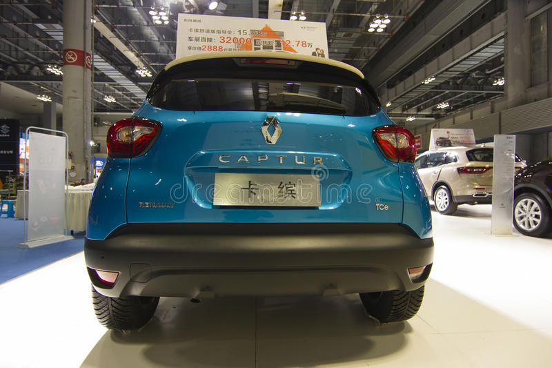 Auto show — Renault CAPTUR car back. The 2017 Chongqing lnternational Auto Consumption Exhibition.Renault CAPTUR car back close-up. Photo taken April 10 stock images