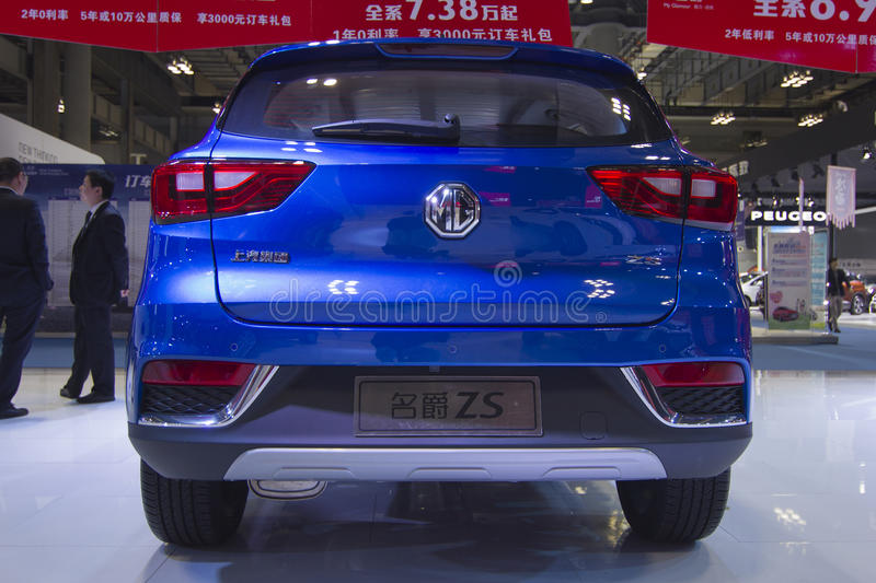 Auto show — Renault CAPTUR car back. The 2017 Chongqing lnternational Auto Consumption Exhibition.Renault CAPTUR car back. Photo taken April 10, 2017, in royalty free stock image