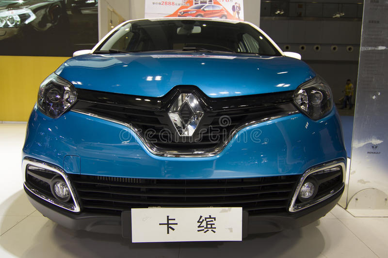 Auto show — Renault CAPTUR. The 2017 Chongqing lnternational Auto Consumption Exhibition.Renault CAPTUR car front close-up. Photo taken April 10, 2017, in stock photo