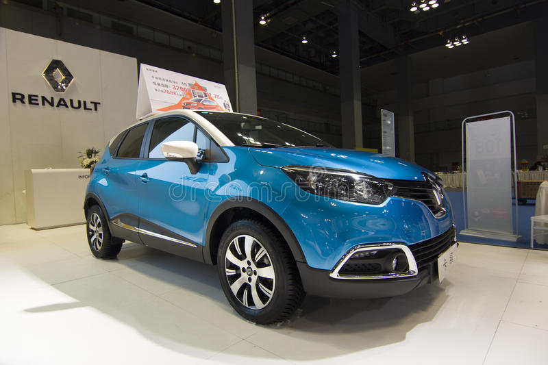 Auto show — Renault CAPTUR. The 2017 Chongqing lnternational Auto Consumption Exhibition.Renault CAPTUR. Photo taken April 10, 2017, in Chongqing, china royalty free stock image