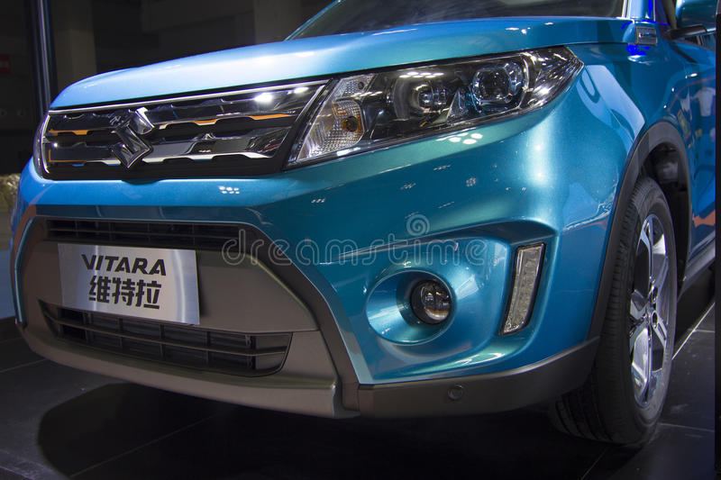 Auto show — SUZUKI VITARA. The 2017 Chongqing lnternational Auto Consumption Exhibition.SUZUKI VITARA front close-up. Photo taken April 10, 2017, in royalty free stock photos