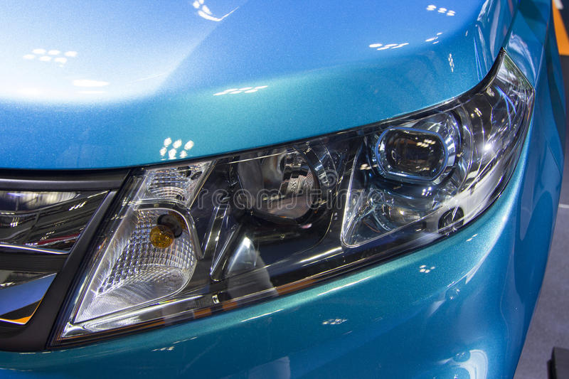 Auto show — SUZUKI VITARA. The 2017 Chongqing lnternational Auto Consumption Exhibition.SUZUKI VITARA headlights close-up. Photo taken April 10, 2017, in stock photos