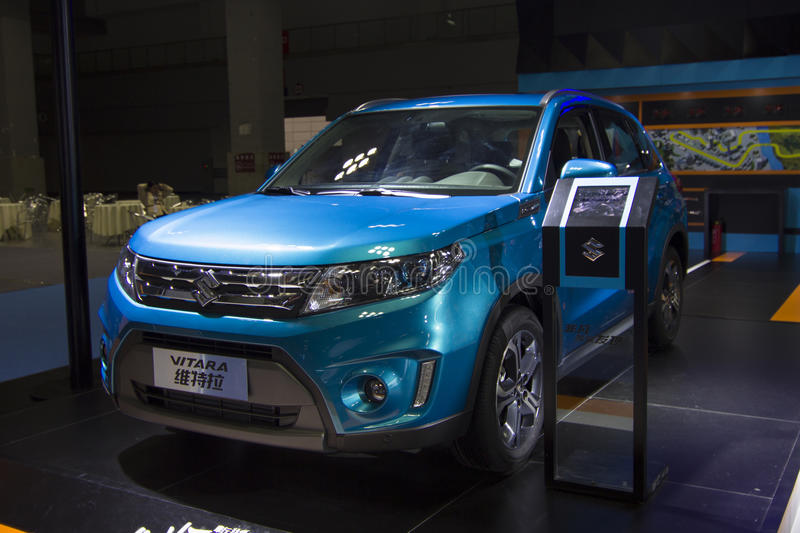 Auto show — SUZUKI VITARA. The 2017 Chongqing lnternational Auto Consumption Exhibition.SUZUKI VITARA. Photo taken April 10, 2017, in Chongqing, china royalty free stock image