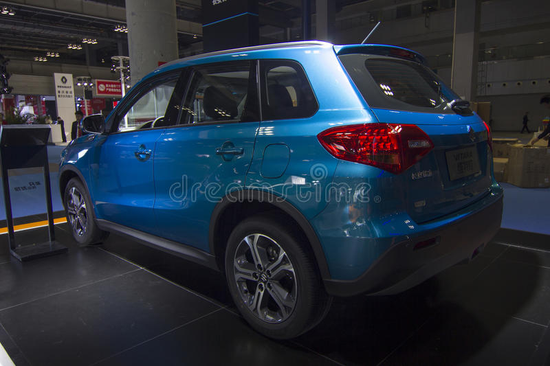 Auto show — SUZUKI VITARA. The 2017 Chongqing lnternational Auto Consumption Exhibition.SUZUKI VITARA. Photo taken April 10, 2017, in Chongqing, china stock photography
