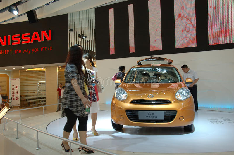 Auto Show in China, Shenzhen royalty free stock photos