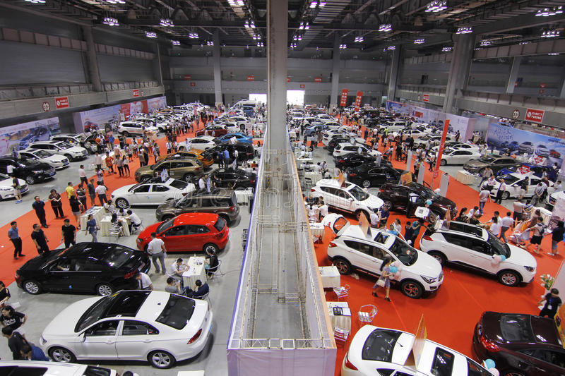 Auto show in chongqing. Scene pictures of the auto show held in Chongqing, China on May 20, 2017 royalty free stock photo