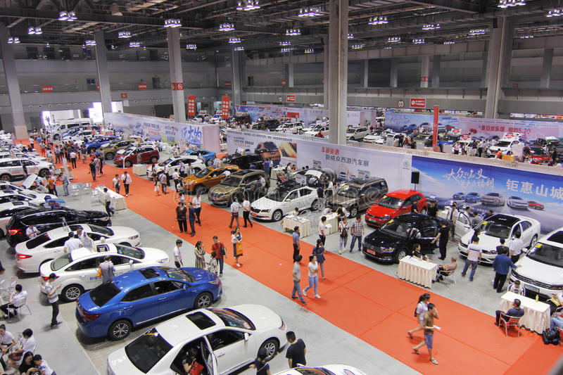 Auto show in chongqing. Scene pictures of the auto show held in Chongqing, China on May 20, 2017 stock image