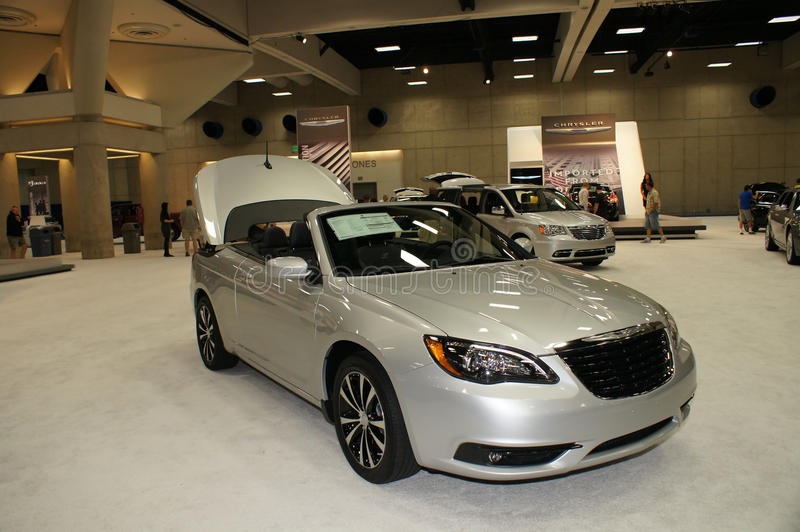 Auto Show Chrysler 200 royalty free stock photo