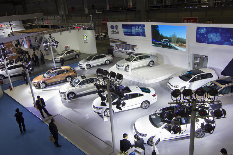 Auto show FAW-Volkswagen. The 2017 Chongqing lnternational Auto Consumption Exhibition. Photo taken April 10, 2017, in Chongqing, china stock image