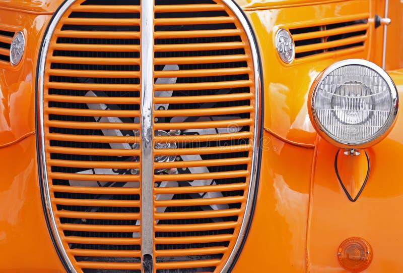 Auto show orange grill stock photos