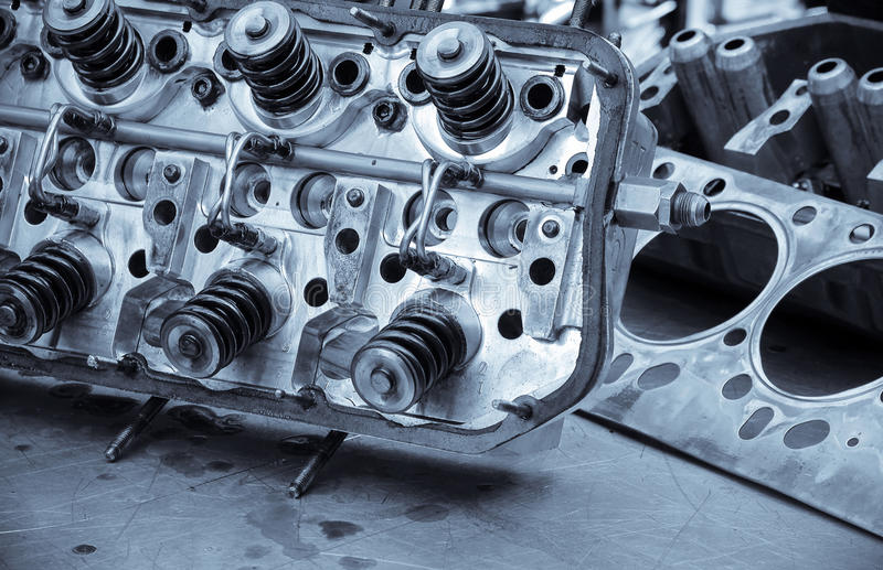 auto silnik obraz stock