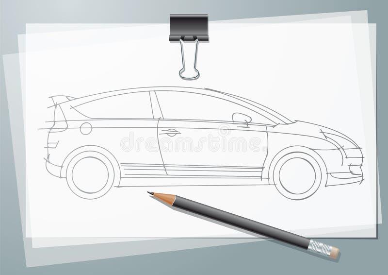 Auto-Skizze vektor abbildung. Illustration von bleistift - 15753957
