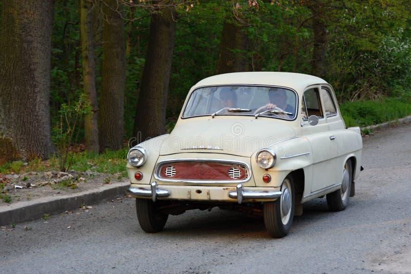 Auto Skoda Octavia fabrykujący w Czechoslovakia w rok 1959-1964 zdjęcia royalty free