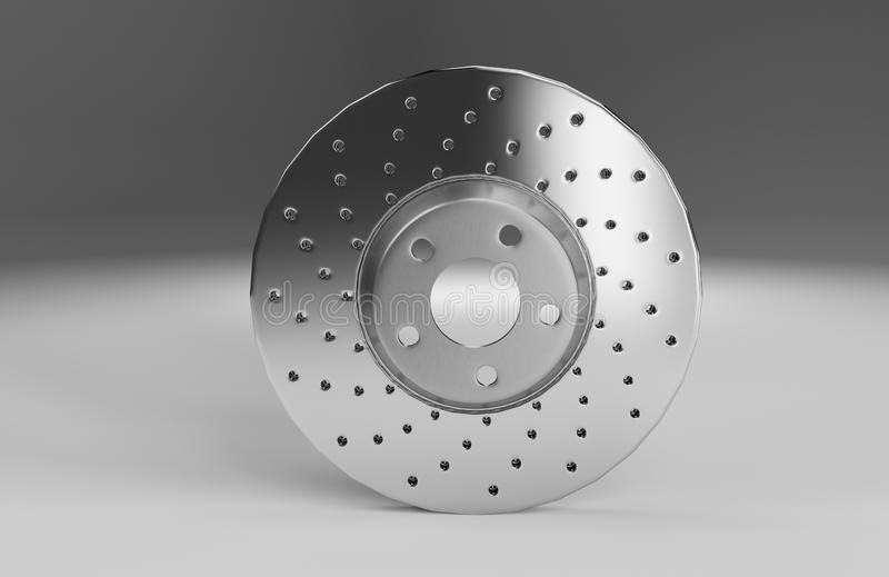 Auto spare parts for car, brake disk on white background vector illustration