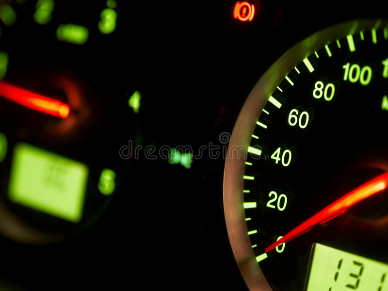 auto speedometer royaltyfria foton