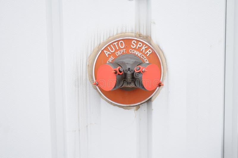 Auto SPKR Fire Department Connection stock photos