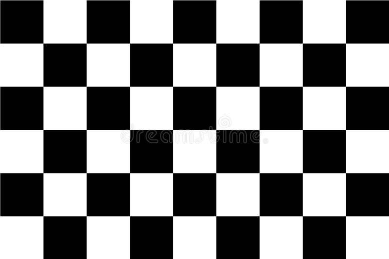 Auto springa för flagga, plan symbol royaltyfri illustrationer