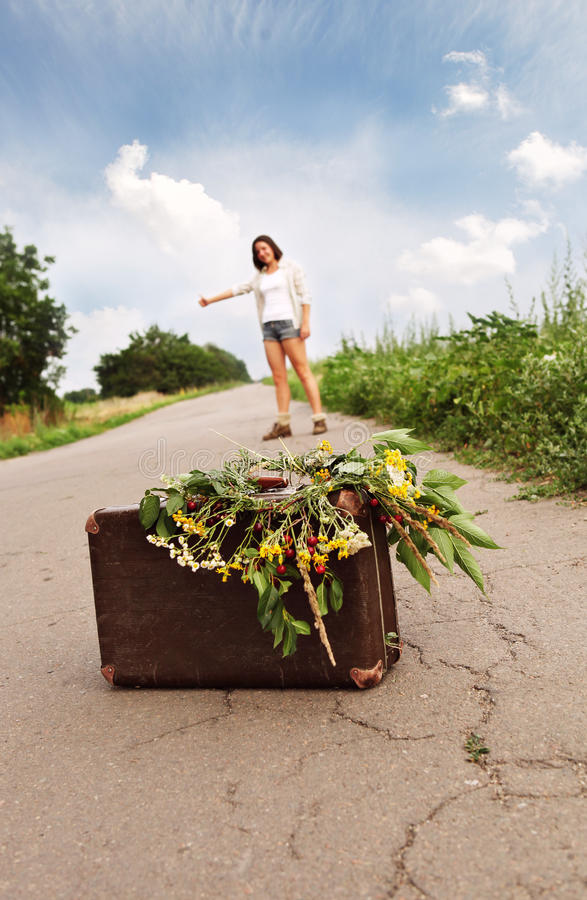 Download Auto stop traveller stock photo. Image of freedom, beauty - 25669252