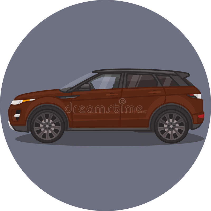Auto Strecken-Rover Evoques SUV stockfotos
