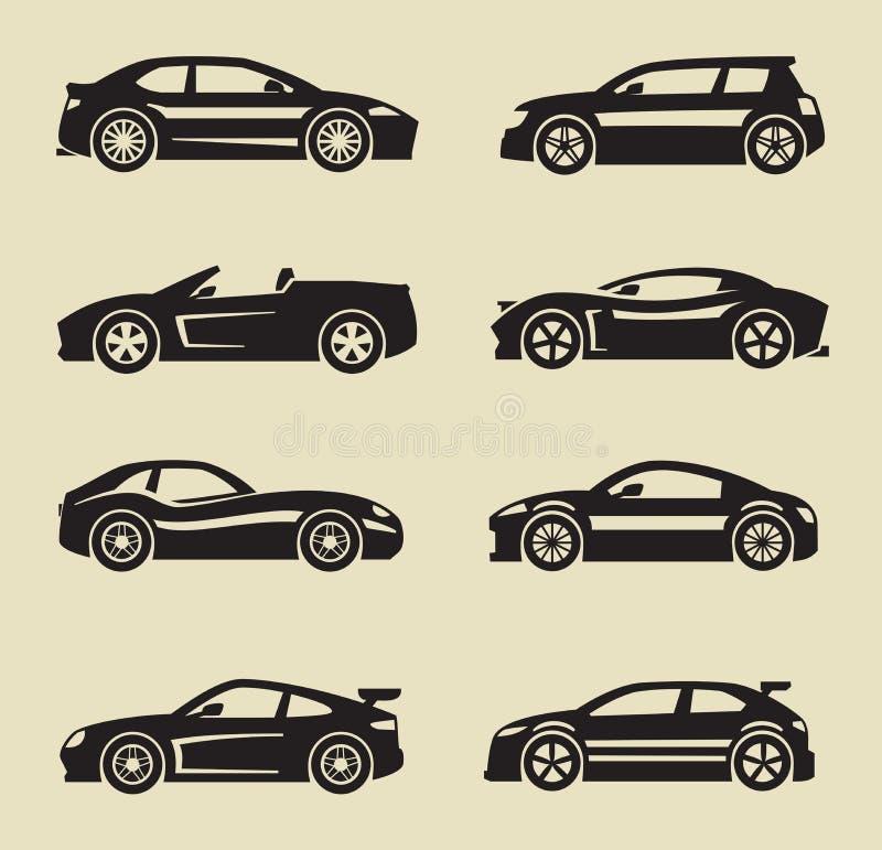 Auto symbol stock illustrationer
