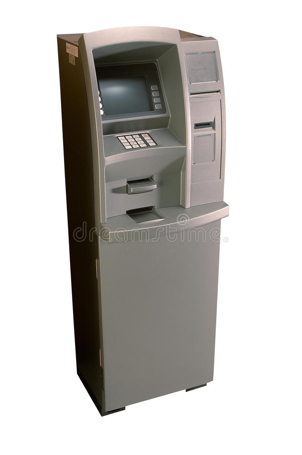 Auto teller machine. With clipping path stock images