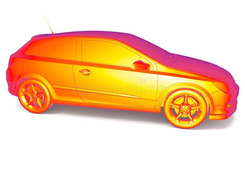 Auto thermisch beeld royalty-vrije illustratie