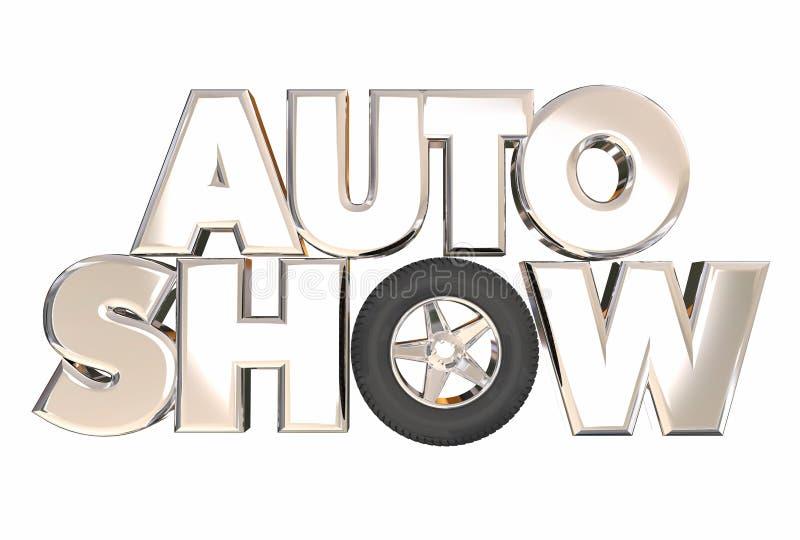 Auto toon Nieuwe Modelvehicles cars display-Tentoonstelling vector illustratie