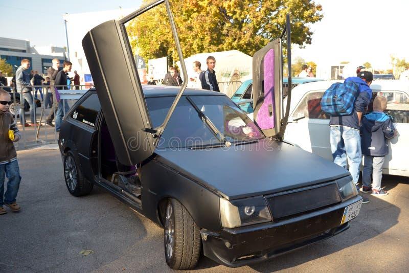 Auto toont retro van Dniepr royalty-vrije stock foto