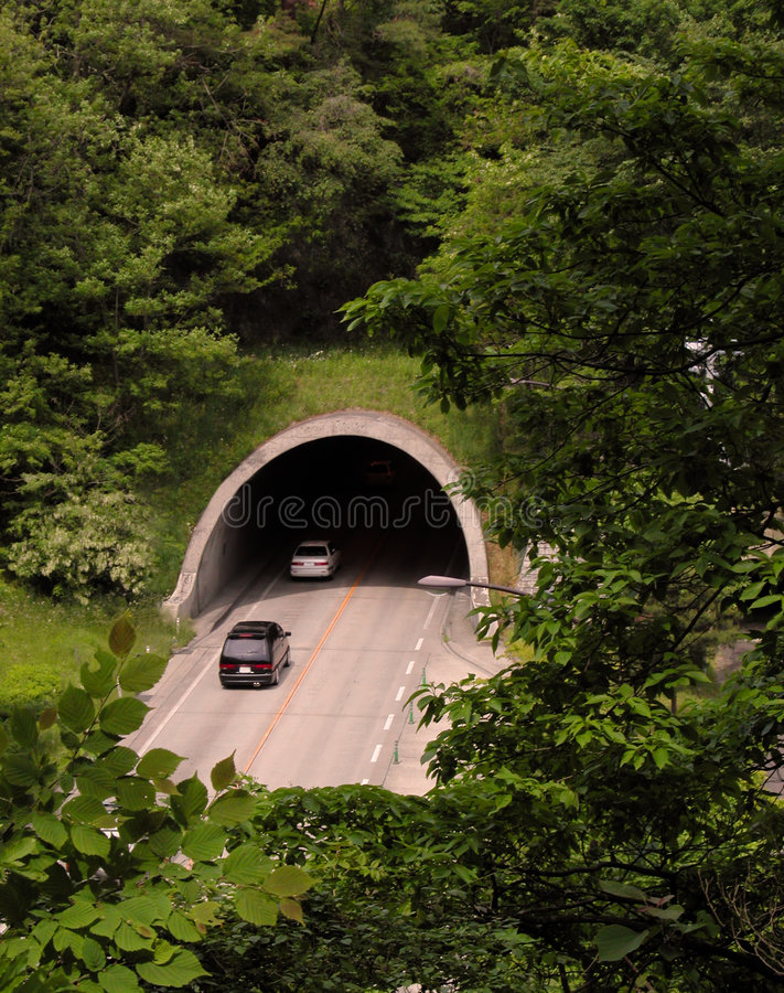 Auto tunnel stock photography
