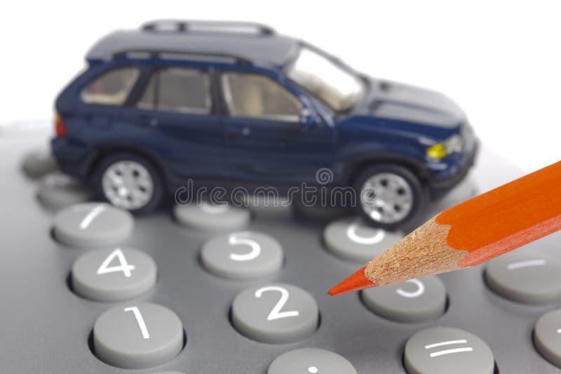 Auto und Berechnung stockbilder