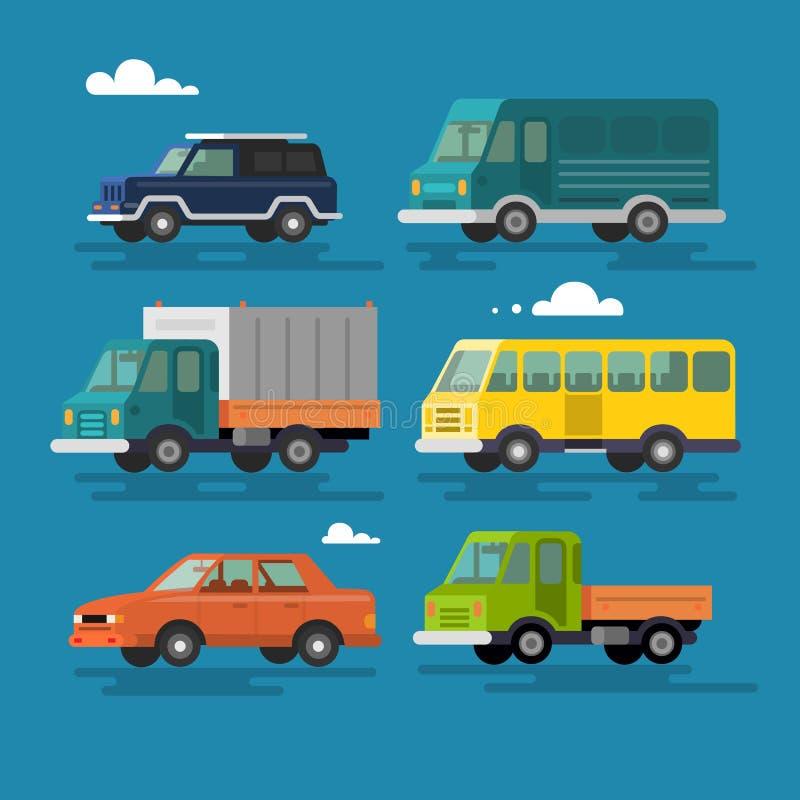 Auto- und Fahrzeugtransport stock abbildung
