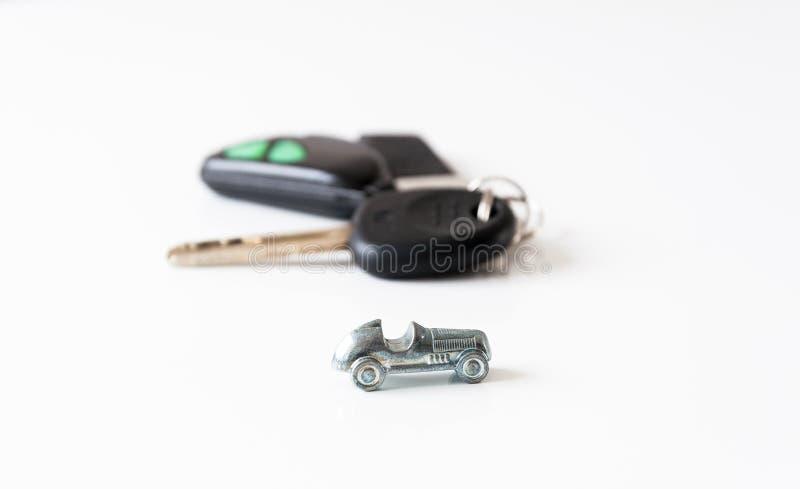 Auto und Tasten lizenzfreies stockbild