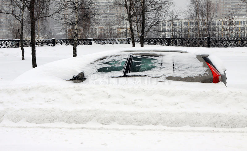 Download The auto under snow stock image. Image of white, snow - 13591741