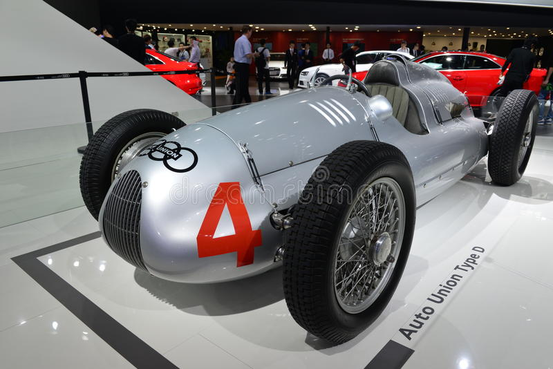 Auto Union Type D racing car royalty free stock photography