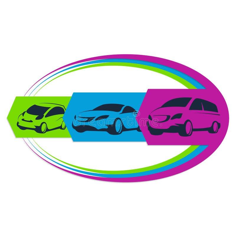 Auto uthyrnings- tecken vektor illustrationer
