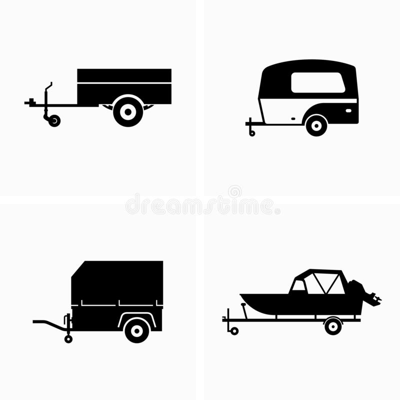 Auto utility and cargo trailer. Available in high-resolution and several sizes to fit the needs of your project royalty free illustration