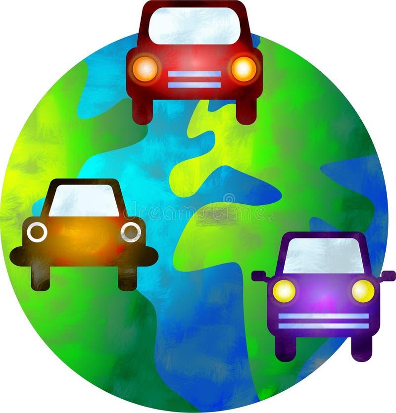 auto värld royaltyfri illustrationer