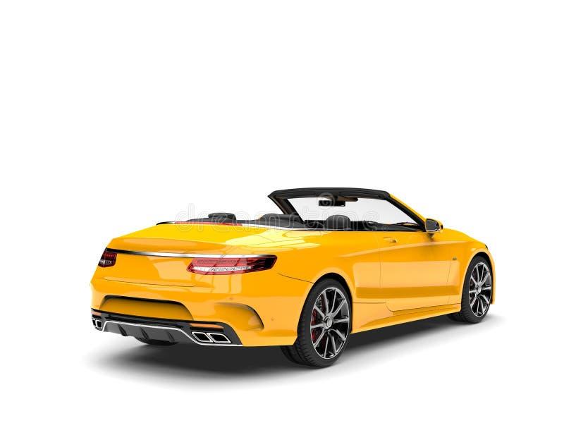 Auto van de Cyber de gele moderne convertibele luxe - staartmening royalty-vrije illustratie