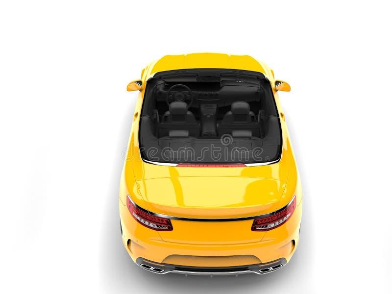 Auto van de Cyber de gele moderne convertibele luxe - top down achtermening stock illustratie