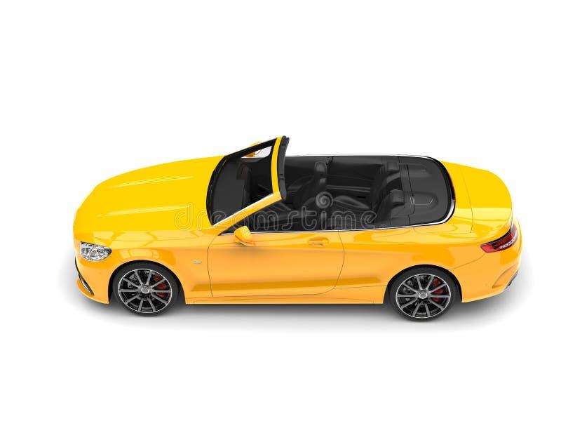 Auto van de Cyber de gele moderne convertibele luxe - top down zijaanzicht royalty-vrije illustratie
