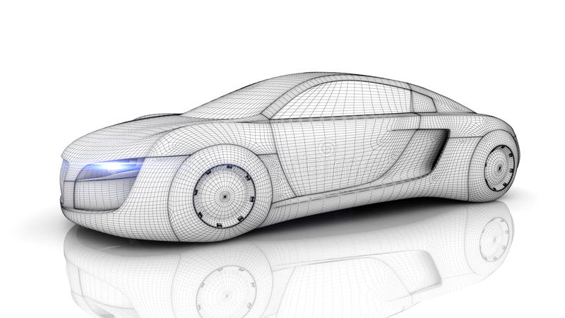 Auto van de toekomst vector illustratie