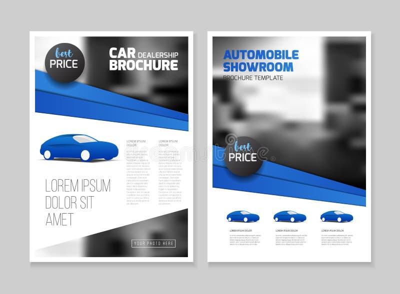 Auto-Vertragshändler-Broschüre Automobilausstellungsraum Broschüre vektor abbildung