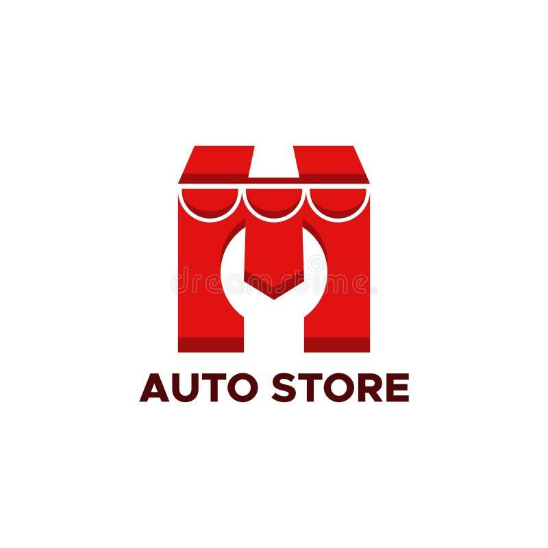 Auto vetor do projeto do logotipo da loja ilustração stock