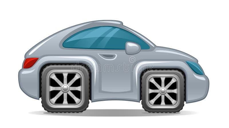 Auto vierkante wielen royalty-vrije illustratie