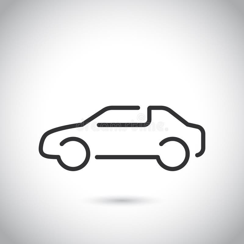 Auto vlak pictogram Enige hoogte - het symbool van het kwaliteitsoverzicht van informatie voor Webontwerp of mobiele app Dunne li vector illustratie