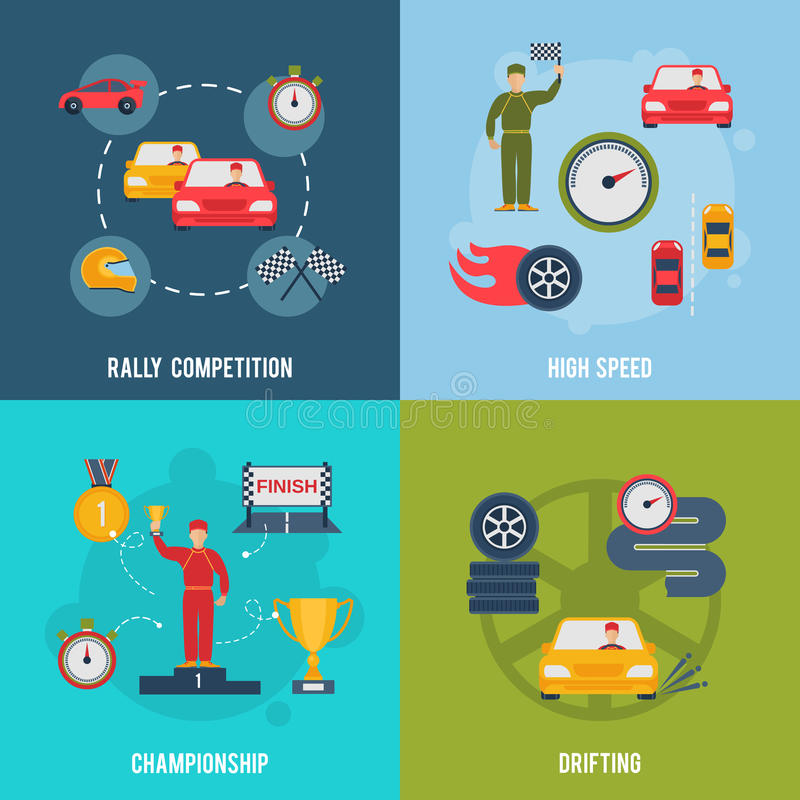 Auto Vlakke Sport stock illustratie