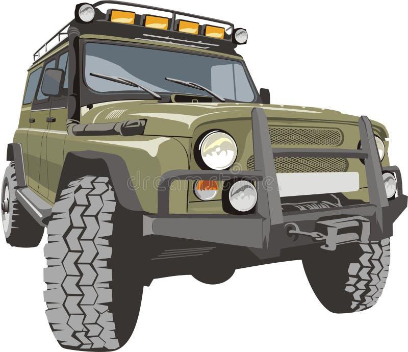 Auto voor slechte wegen vector illustratie