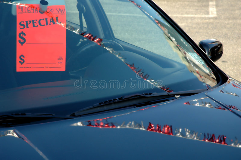 Auto voor Verkoop op Partij stock foto
