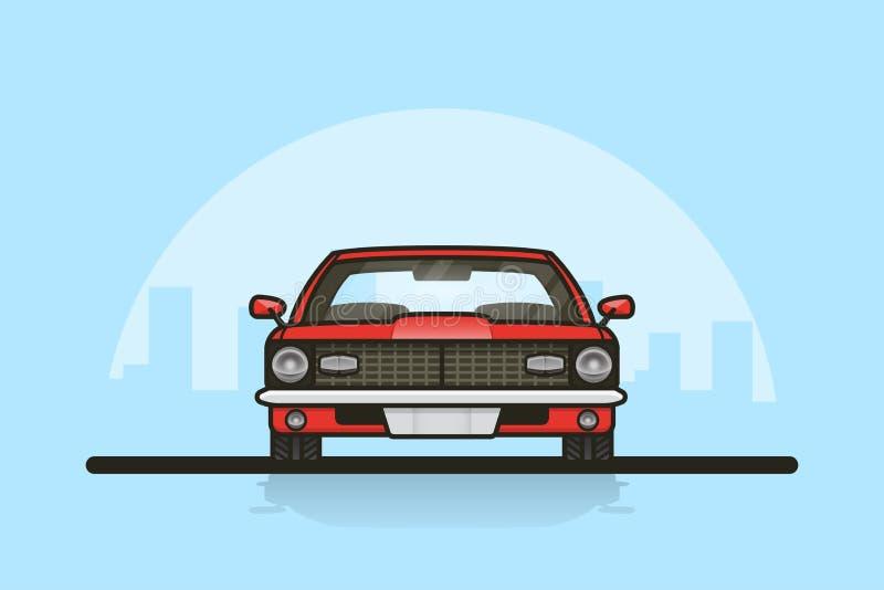 Auto voor zijaanzicht royalty-vrije illustratie